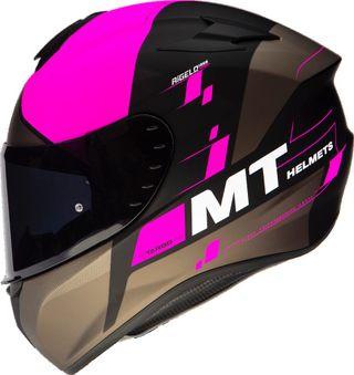Casco moto integral Mt targo Rigel rosa