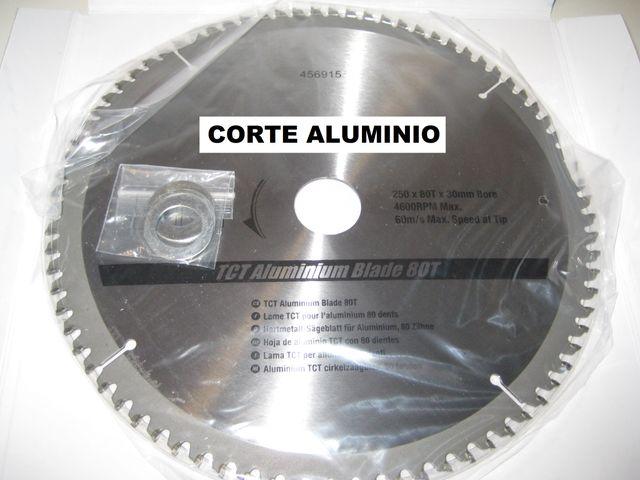 DISCO CORTE ALUMINIO 80 DIENTES 250MM