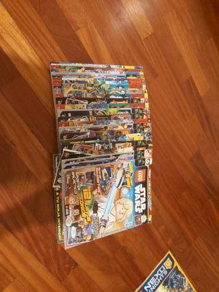 25 revistas de lego sin figuras y algunos comics