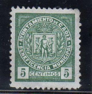 Sello Guerra Civil Cádiz. Nuevo.