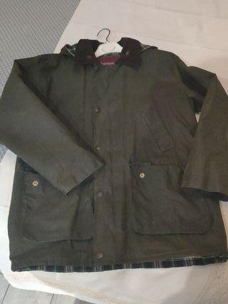 chaqueta tipo Barbour niño, 10 años