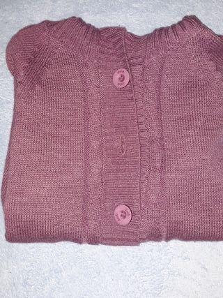 Chaqueta lana morada
