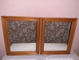 Espejos madera (75 x 62)
