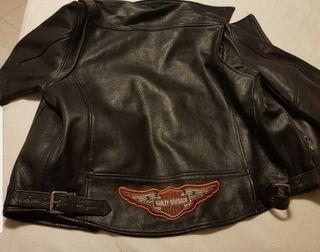 un chollo chaqueta de cuero Harley davison origina