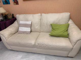 Sofa piel 3 plazas y dos plazas