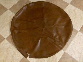 Funda de mesa redonda en cuero, como nueva