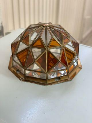 Juego de Lámparas vidrio y latón