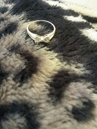 anillo lazo plata de ley