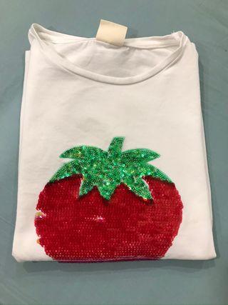 Camiseta Zara brillos