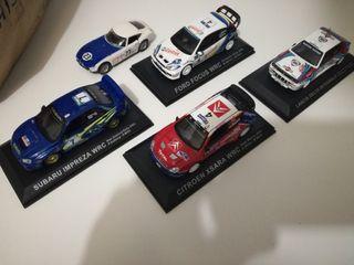 lote de cinco coches escala 1:43