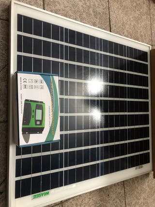 Kit placa panel solar waaree 50w 12v + regulador