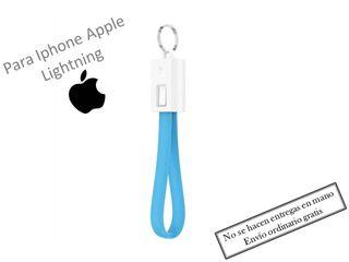 Llavero azul cable cargador para Iphone lightning