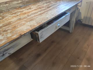 Espectacular conjunto mesa y banco!