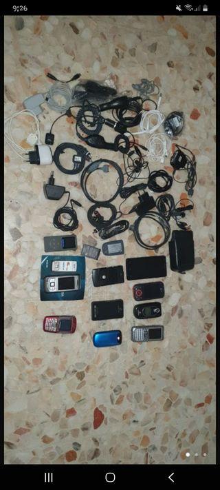 lote teléfonos y cables