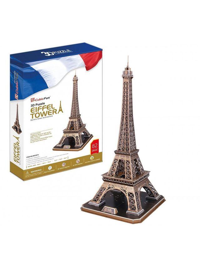 puzzle torre eiffel 82 piezas 3d