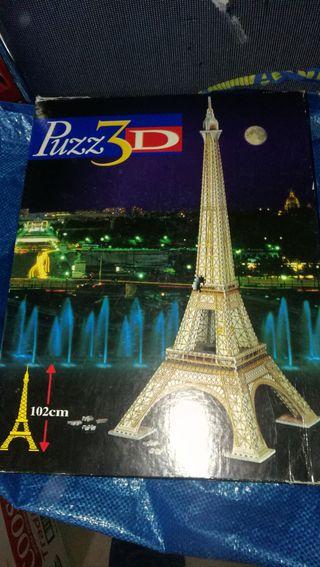 puzzle 3d torre eiffel 703 piezas