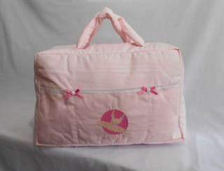 Bolso maternal XL bordado