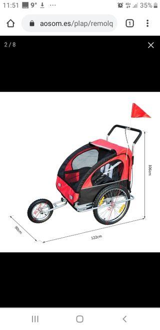 carrito para bici y para correr o andar