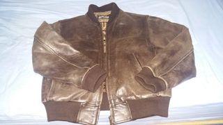 chaqueta schott XL piel cuero piloto aviador