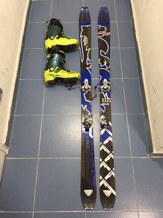 Equipo esquí de montaña