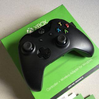 Mando Xbox One con adaptador wireless para pc