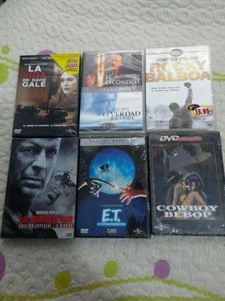 lote de 6 películas nuevas