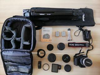 OPORTUNIDAD Cámara reflex Canon 450D + 4 ópticas