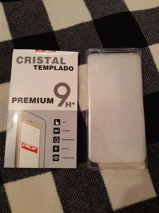 Sony Xperia L3 Funda + Cristal templado