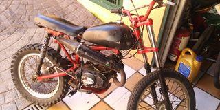 moto tipo pittbike antigua motor 50