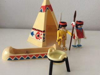 Playmobil oeste, campamento indio antiguo.