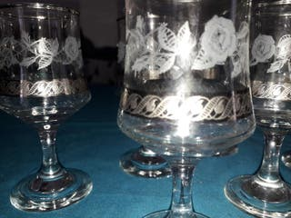lote 6 copas cristal bohemia (licor)