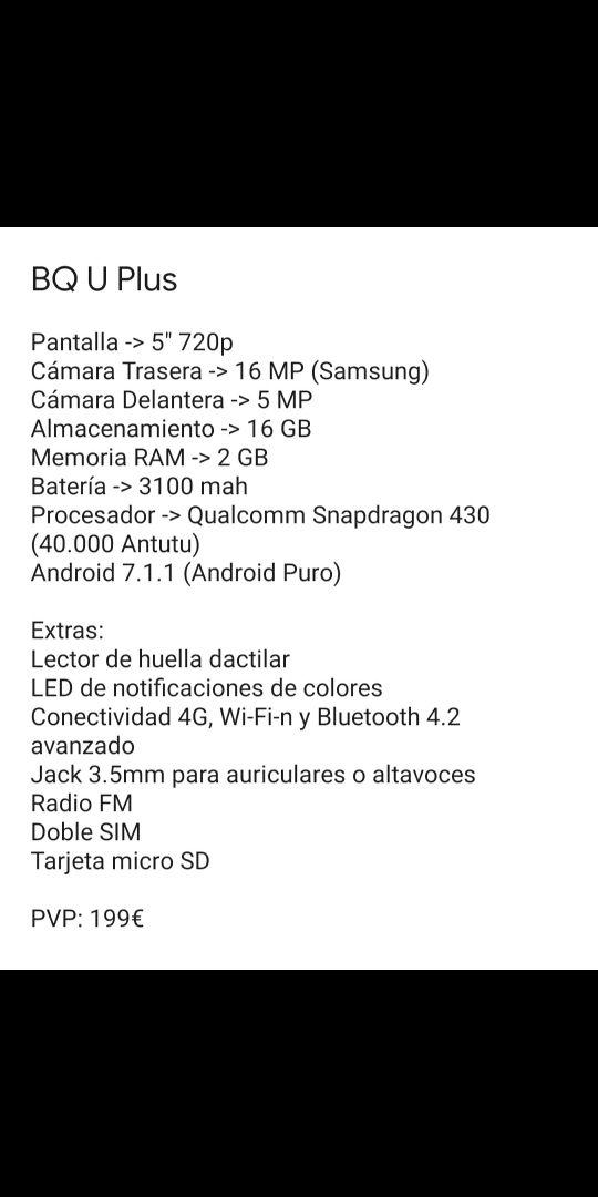 BQ U Plus buen estado (Jerez) (2gb/16gb)