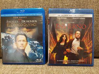 Colección Dan Brown 3 películas en bluray