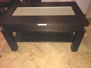 Mesa baja extensible y elevable a mesa de comedor