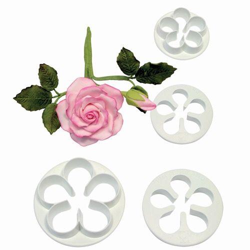 Set 4 Cortadores flores