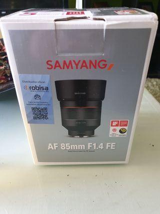 samyang AF 85 mm F1.4 FE para sony E