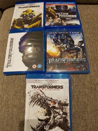 Colección Transformers bluray 5 películas