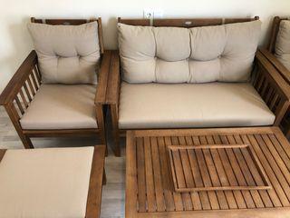 Conjunto de muebles para terraza o jardin