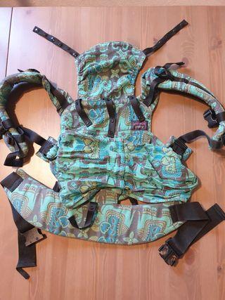 Mochila portabebé Emeibaby en tonos verdes