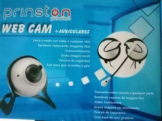 Webcam + auriculares prinston