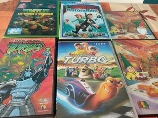6 DVD dibujos