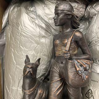 Escultura Bronce Gres PeraltaMI FIEL AMIGO (PERRO)