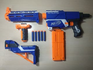 Nerf Retaliator 4en1 + 5 dardos de regalo