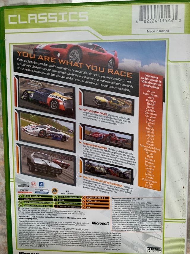 Pack Forza motorsport xbox y dos peliculas dvd
