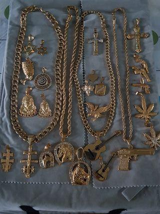 joyas de golfi chapado en oro