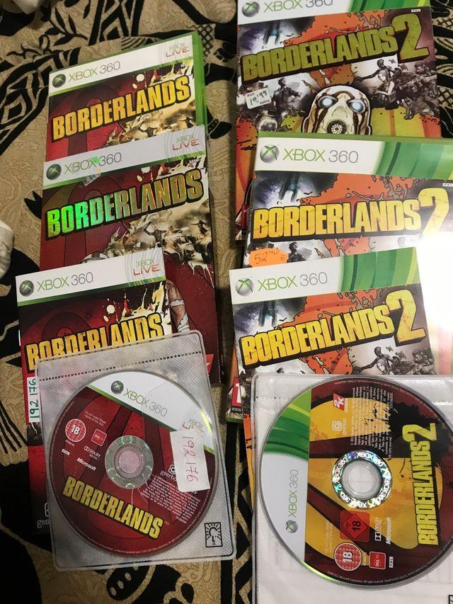 Xbox360 borderlands 1 y 2