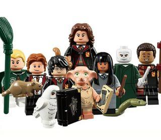 8 Figuras Harry Potter + accesorios + bases.