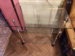 mesa de cristal auxiliar comedor