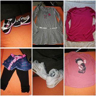 lote ropa y zapatos