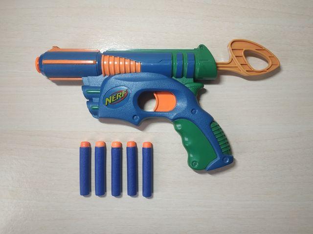 Nerf pistola + 5 dardos de regalo